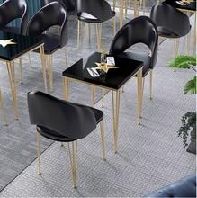 цена на Tea shop bar bar bar high bar table simple home narrow wall table Nordic iron bar table and chair combination