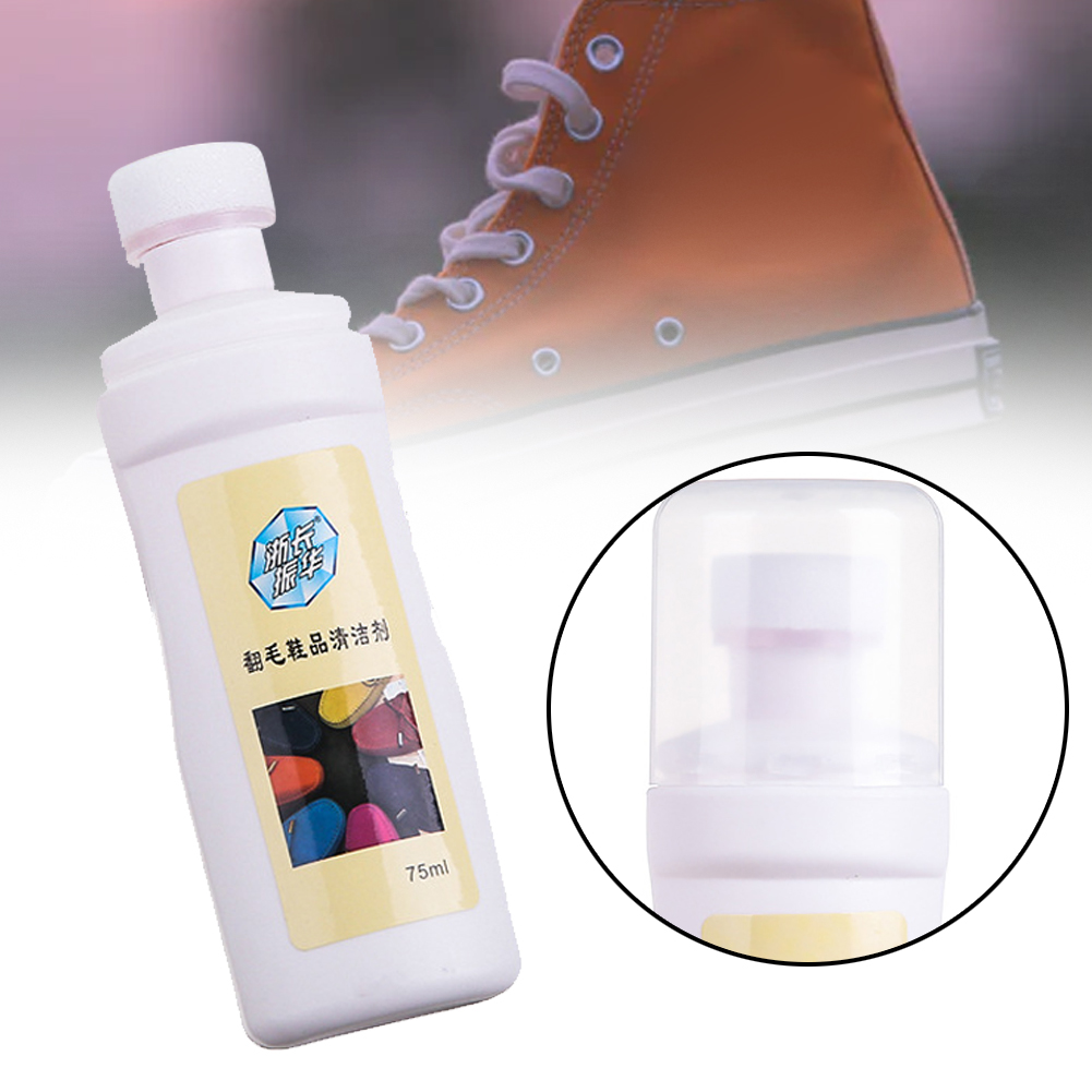75ml Leather Care Cleaning Agent Polishing Tool Travel Portable Suede Shoe Cleaner For Boots Liquid Home Refreshed Stain Hand
