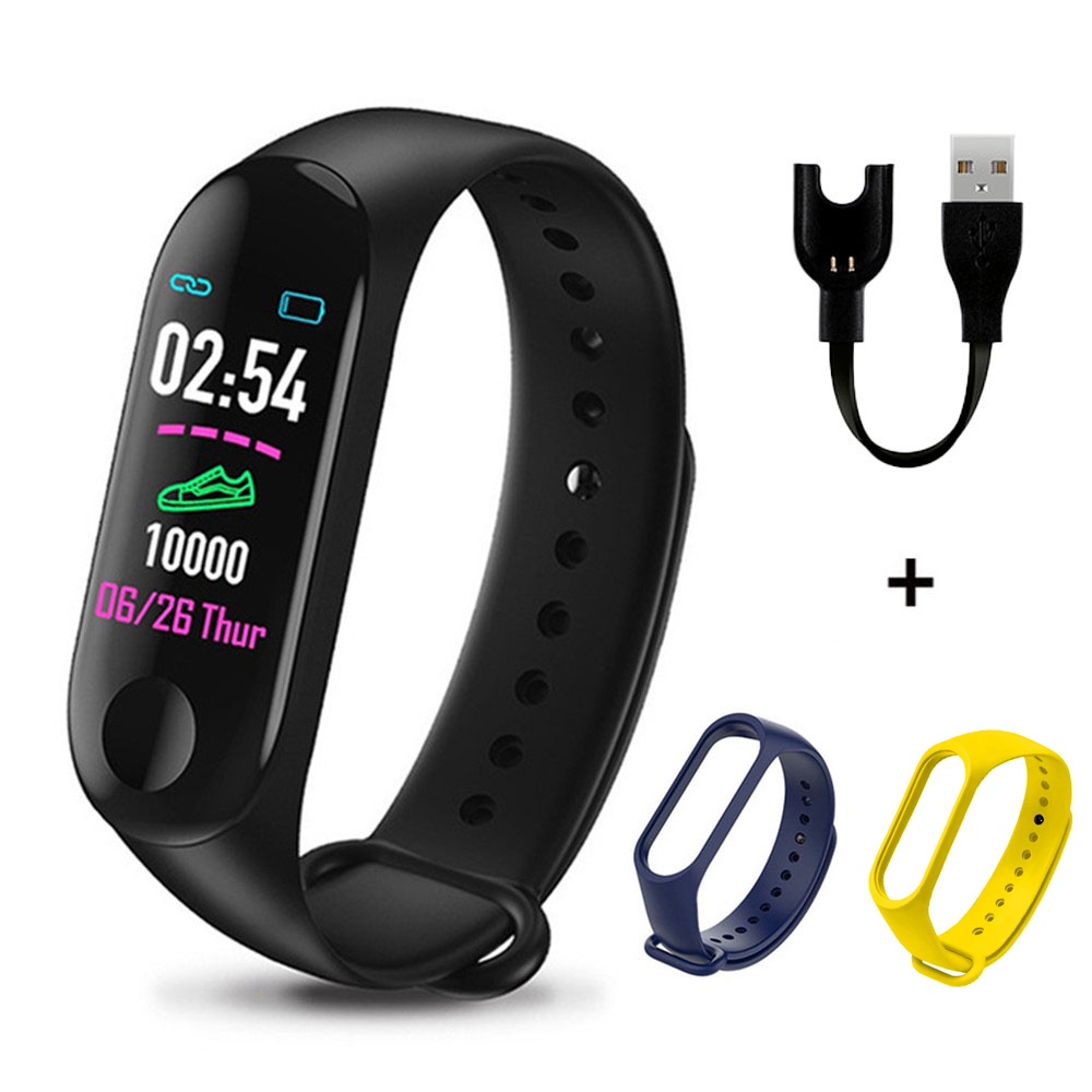 M3 Plus Smart Band Bluetooth Smart Watch Fitness Tracker Smart Bracelet Health Sleep Blood Pressure Heart Rate Monitor Wristband