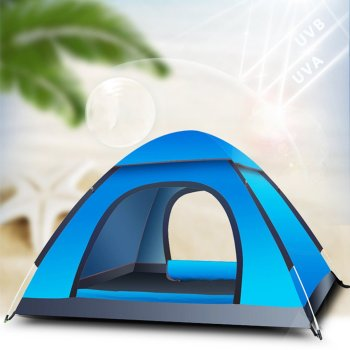 Outdoor Camping 4 Person Tent Outdoor Use Tents for Events with Carry Bag for Picnic Hiking Fishing 1x Family Camping Tent large camping tent 5 8 person garden tent double layer three doors outdoor tents for family camping travel 330 380 195cm