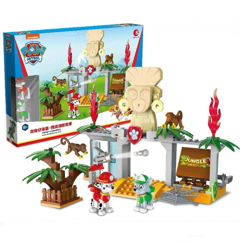 2020 New Original Paw Patrol Monkey Temple Playset Everest Tracker Robodog Apollo Ryder Children Toy Kids Birthday Gift Doll Hot