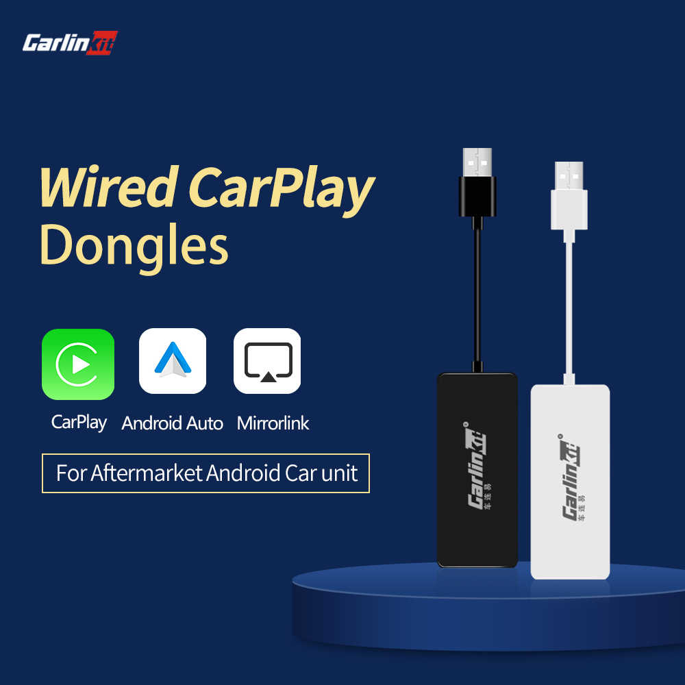 Carlinkit apple carplay/android carplay automático dongle para android tela do sistema smart link suporte espelho-link música mapa on-line