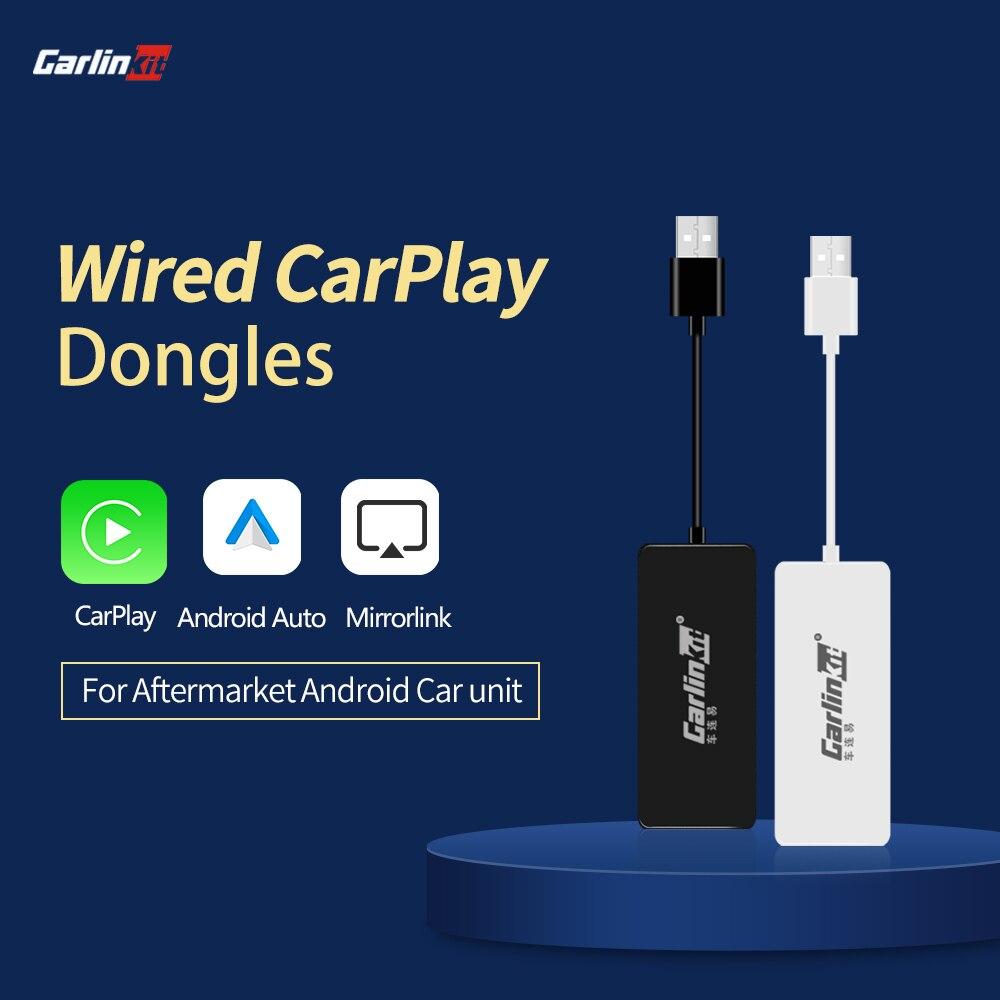 Carlinkit Apple CarPlay /Android, llave electrónica automática Carplay para Android, pantalla de sistema, enlace inteligente, compatible con mirrorlink, mapa de música en línea