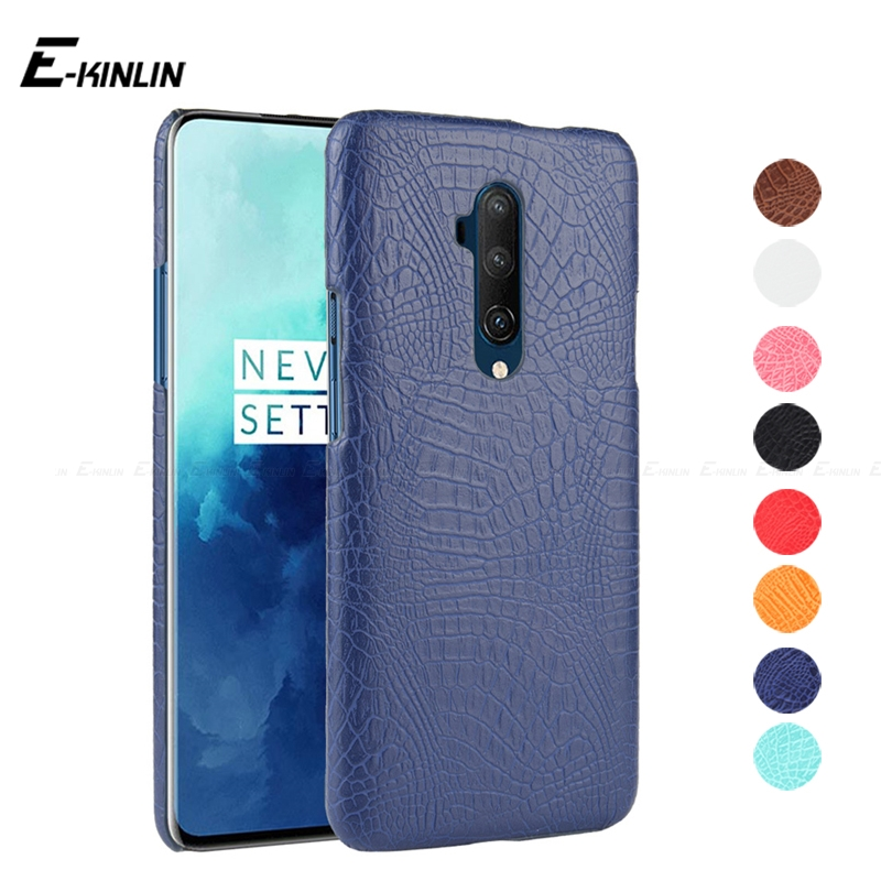 Ultra Thin Crocodile Skin Snake Print Leather <font><b>Case</b></font> For <font><b>OnePlus</b></font> One Plus 8 7T 7 Pro 5G 6T 6 5T 5 3T 3 A6010 <font><b>A5010</b></font> Back Cover image