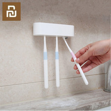 Happy Life Bathroom storage Organizer Toothbrush Holder Wall Mount Rack Stand Adhesive Bathroom Products