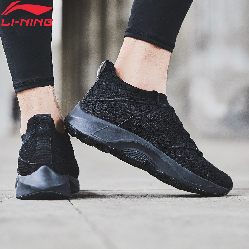 Li-Ning Men LN CLOUD LITE Cushion Running Shoes SockLike Breathable Mono Yarn LiNing Li Ning Sport Shoes Sneakers ARHN103 XYP751