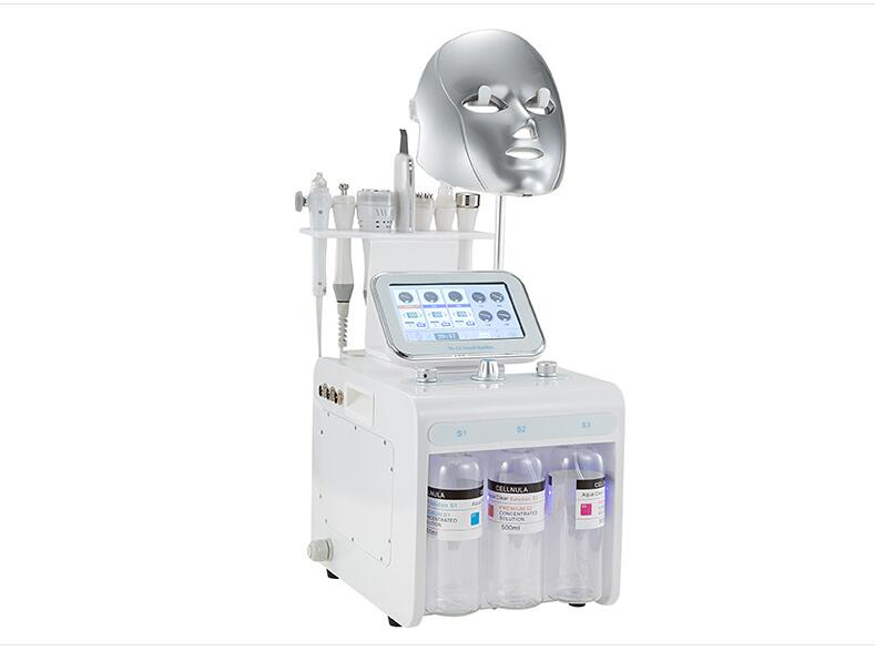 2019 New Machine H2O2 Water Oxygen Skin Cleaning Hydro Skin Revitalizer Aqua Peeling Facial Care Ultrasound Waesen