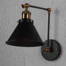 Домашний Ночной Настенный светильник для ресторана кафе промышленные регулируемые качели ретро декоративные бра для бара офиса гостиной длинные руки черный