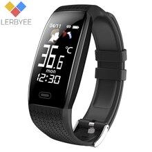 Lerbyee 2020 Smart Uhr T5 Körper Temperatur Wasserdichte Fitness Uhr Anruf Erinnerung Sport Modus Smartwatch Sport Männer Frauen Heißer