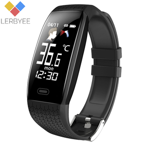Image 1 - Lerbyee reloj inteligente T5 para hombre y mujer, reloj inteligente deportivo resistente al agua, con temperatura corporal, recordatorio de llamadas y Modo deportivo, 2020