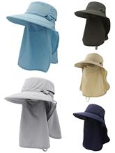 Connectyle Outdoor Mens Women Sun Hat Wide Brim Fishing with Neck Flap UPF 50+