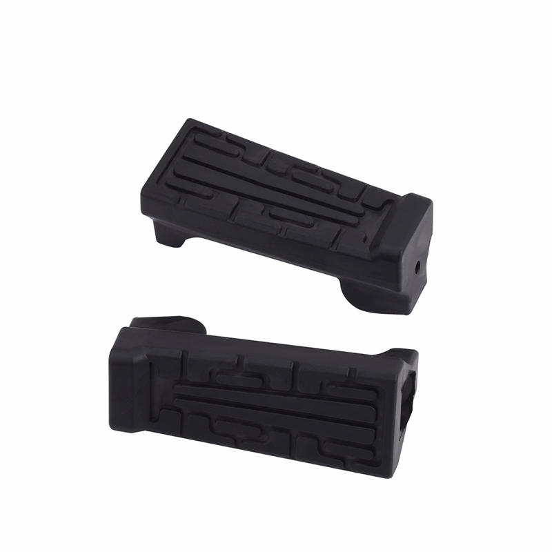 2 PCS Motorcycle Front Foot Rest Peg Rubbers Footrest Handlebars Black Front Rear Foot Pegs For Yamaha YBR 125