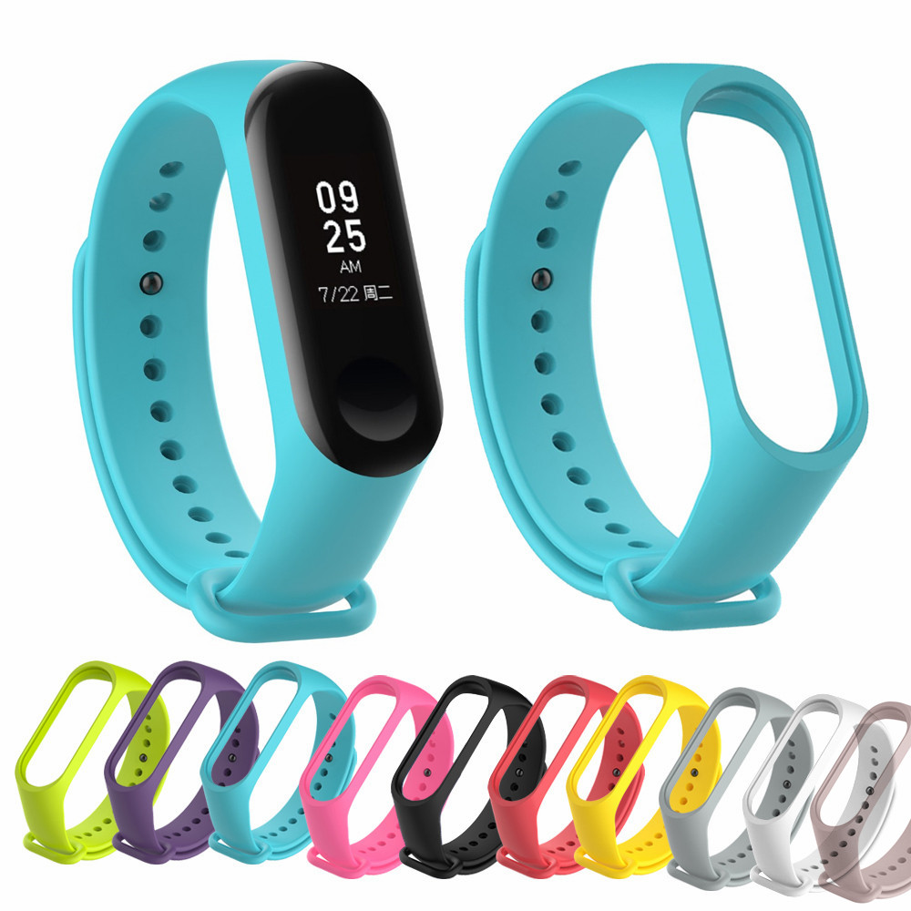 For Xiaomi Mi Band 5 4 3 Silicone Pink Replacement Wristband Bracelet Watchband For Xiomi Mi Band3 Miband 4 3 Band4 Wrist Strap(China)