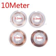 Enrolamento magnético da bobina do fio de cobre esmaltado do ímã de 10 medidores para fazer o modelo 0.2mm 0.3mm 0.5mm do motor do eletroímã 0.6mm