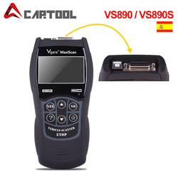 Best price VS890 OBD2 Code Reader Universal VGATE VS890 OBD2 Scanner Multi-language Car Diagnostic Tool Vgate MaxiScan VS890