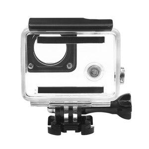 Image 4 - לירות 30M מקרה עמיד למים עבור GoPro Hero 4 3 + שחור כסף פעולה מצלמה עם סוגר מגן דיור עבור ללכת פרו 4 אבזר