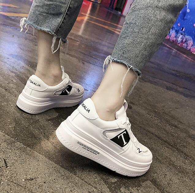 YeddaMavis Women Shoes Off White Shoes Women Sneakers Spring New Korean Lace Up Casual Running Shoes Womens Shoes Woman Trainers in Women 39 s Vulcanize Shoes from Shoes
