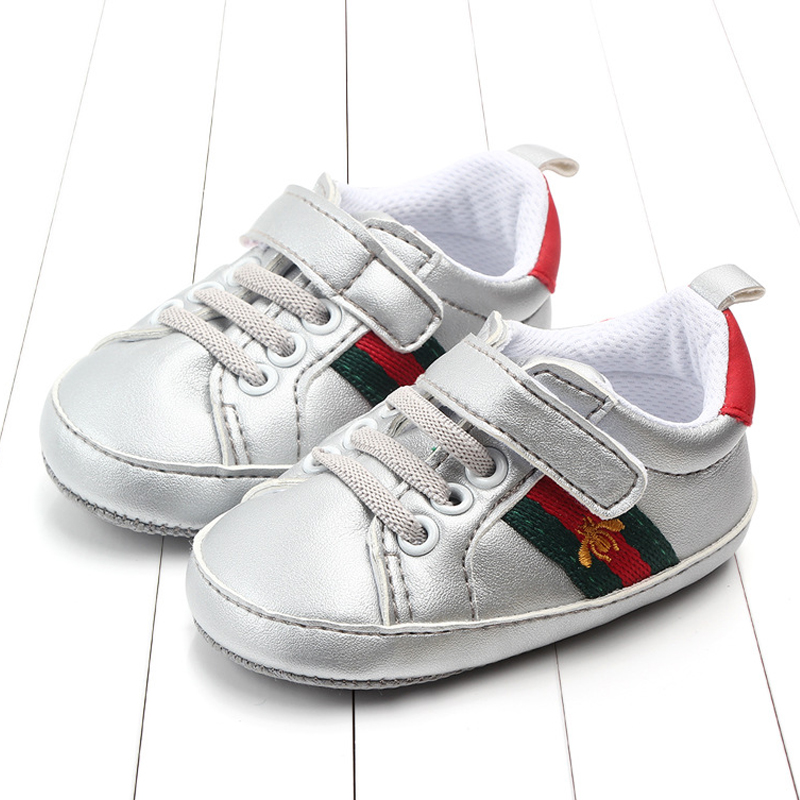 New Baby Boys Girls Toddler Casual Sport Pu Shoes Infant Sneakers Newborn Soft Bottom First Walk Non-slip Fashion Kids Shoes