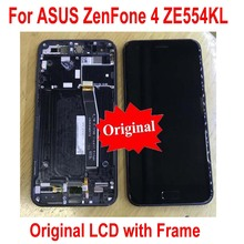 Original Best Sensor For ASUS ZenFone 4 ZE554KL Z01KDA Z01KD IPS LCD Display Screen With Frame Touch Panel Digitizer Assembly