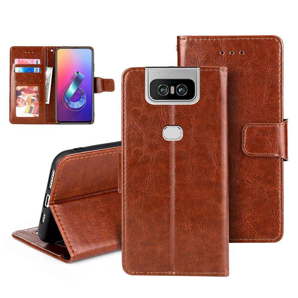 Luxe Pu Leather Wallet Flip Leather Case Voor Asus Zenfone 6 6Z ZS630KL 5 ZS620KL 4 ZE554KL Magnetische Cover Met card Slot