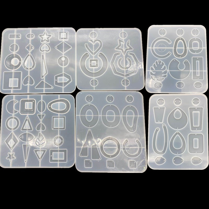 DIY Crystal Resin Mold Geometric Irregular Earring Mold Necklace Pendant Mold Earring Jewelry Making Tools