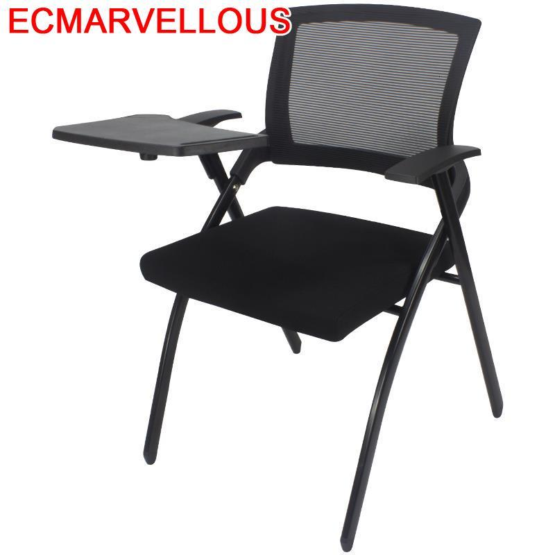 Room Furniture Modern Cadeira Com Escrita Bedroom Sedie Moderne Pieghevoli De Folding Office Silla Oficina Conference Chair