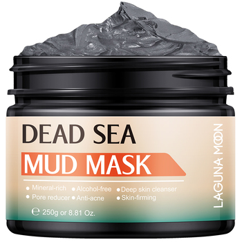 LAGUNAMOON Facial Deep Cleaning Natural Dead Sea Mud Mask Exfoliating Black Masks Skin Face Care 250g 1