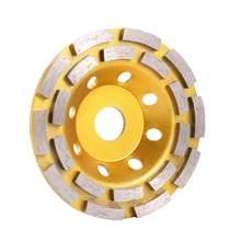Roda de moagem segmento de diamante, disco de corte de 125mm para concreto, mármore, diamante granito, almofadas de polimento