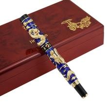 Handmade Jinhao Cloisonne Double Dragon Fountain Pen Iridium