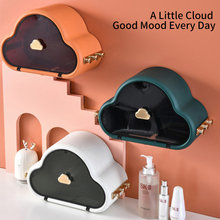 DFU PunchFree SelfAdhesive Waterproof WallMounted Toilet Tissue Box Cover Multifunction Bathroom Storage Organizer Paper Holder