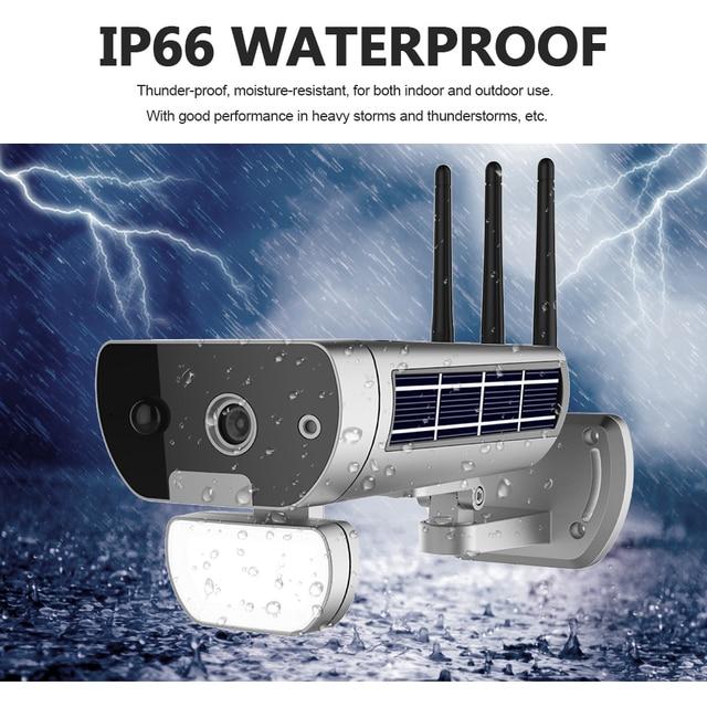 Wireless HD 1080P WiFi IPCamera Solar&Battery Power Bullet  PIR Motion Detection Waterproof Thunderproof Outdoor Security Camera 4