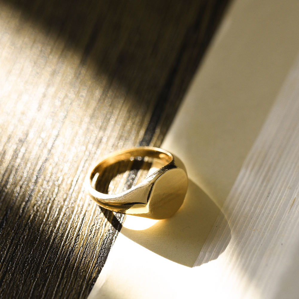 Винтажные простые массивные круглые Глянцевые Кольца для женщин, модные золотистые минималистичные кольца на палец, модные ювелирные изде...