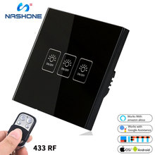Wifi 433MHz toutch Smart Switch Neutral Wire & Single Live 3 gang 2 way shelly 1 Panel Remote Control by Phone with Alexa