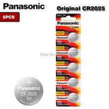 5 Pçs/lote PANASONIC Original CR2025 3V Baterias De Lítio Botão Célula de Bateria CR 2025 para Brinquedos Relógio Calculadora Computador de Controle