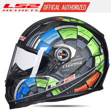 LS2 FF358 full face motorcycle helmet motocross racing man woman ls2 Original ECE approved Multi-color sun visor