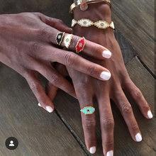 Женское готическое кольцо фэйрюку Золотое с бисером ювелирное