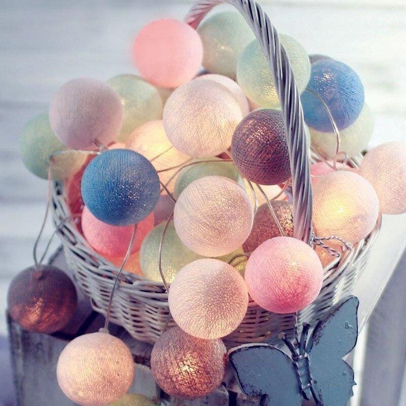 LED Baumwolle Ball Girlande Lichter String In Deutschland Ostern Outdoor Urlaub Hochzeit Party Baby Bett Fee Lichter Dekoration