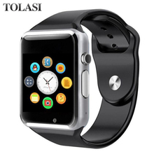 A1 WristWatch Bluetooth Smart Watch Sport Pedometer With SIM Camera Smartwatch for Android PK GT08 DZ09 Smart watch smart watch gt08 black