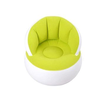 58*53cm Children Inflatable Bathroom Sofa Portable Multifunctional Kids Chair for Sitting Relax Inflatable Sofa Comfortable - Green