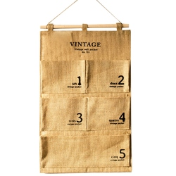 TOP! Home Multi Layers Pocket 5 Case Waterproof Sundries Keys Hanging Bag Door Wall Hanging Classify Storage Bag|Torby i kosze|   -