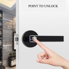 New Intelligent Semiconductor Fingerprint Lock Electronic Biometric Fingerprint Door Lock for Indoor Home Use Simple Design