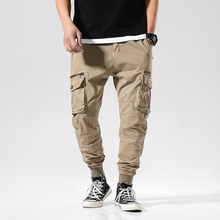 Spring Autumn Joggers Men Multi-pockets Cotton Mens Cargo pants