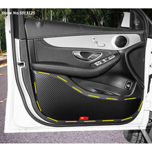 Car Styling Door Protector Pad Plank Anti Kick Anti-dirty Mat Cover Sticker For Volkswagen VW Touran 2017 2018 2019