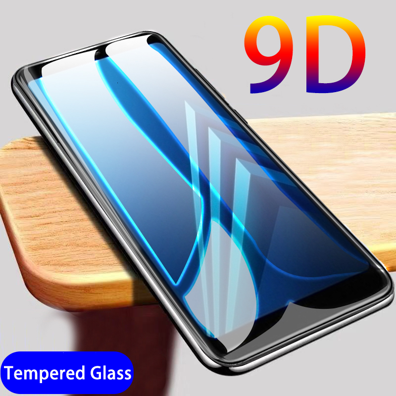 9D Full Glue Tempered Glass for Samsung Galaxy A6 Plus A8 2018 A 6 8 A6plus A8plus <font><b>A82018</b></font> Screen Protector Protective Glass Film image
