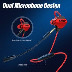 Image 3 - Hi Fi stéréo filaire écouteur dans loreille casque écouteurs basse écouteurs pour IPhone Samsung 3.5mm Sport jeu casque avec micro dynamique