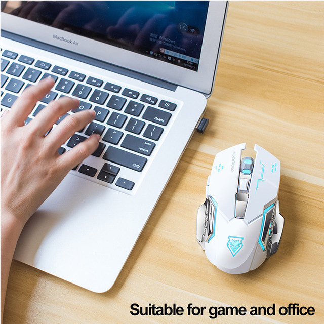 Wireless mouse Rechargeable Gaming Mouse Mute Luminous  2.4Ghz Opto-electronic Computer Mouse Accessories Desktop laptop mouse 5