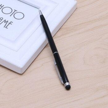 цена на Stylish Slim 2 in 1 Ballpoint Pen & Capacitive Stylus For iPhone, iPad, Tablets