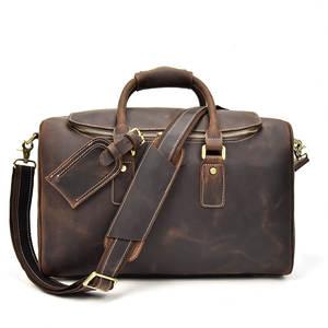 Travel Duffle Organizer Luggage Vintage Large Zipper Solid Men