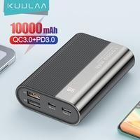 KUULAA Power Bank 10000 mAh QC PD 3.0 PoverBank ricarica rapida PowerBank 10000 mAh USB Mini caricabatterie esterno per Xiaomi