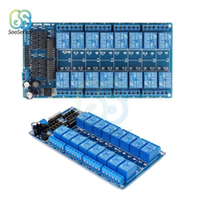 цены DC 5V 12V 16 Channel Relay Module Interface Board With Optocoupler Protection LM2576 Power for Arduino DIY Kit